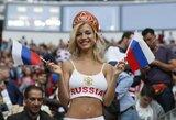 Pamatykite: skandalingoji Rusijos sirgalė nusifotografavo pikantiškoje fotosesijoje