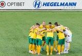 Futbolo rinktinės kandidatų sąraše – penki pasikeitimai