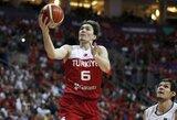 Turkijos rinktinė draugiškame turnyre parklupdė Italijos krepšininkus