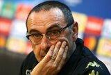 """M.Sarri: """"Pirmas rungtynes sužaidėme kaip klounai"""""""