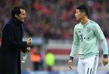 """Vokietijos spauda: """"Bayern"""" priėmė sprendimą dėl J.Rodriguezo ateities"""