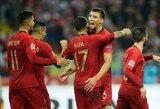 Tautų lyga: be C.Ronaldo žaidę portugalai įveikė Lenkiją