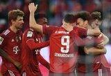 """Vokietijoje – R.Lewandowskio pelnytas """"hat-trickas"""" ir triuškinama """"Bayern"""" komandos pergalė"""