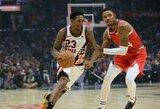 """L.Williamso ir K.Leonardo duetas ištempė """"Clippers"""" į sunkią pergalę"""