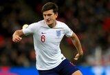 """""""Man United"""" kapitonas H.Maguire'as dėl nusikaltimo Graikijoje pašalintas iš Anglijos rinktinės"""