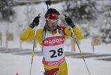 Lietuvos biatlonininkai ketvirtajame IBU taurės etape liko tarp autsaiderių
