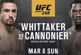"""""""UFC 248"""" turnyre nepamatysime buvusio vidutinio svorio kategorijos čempiono: J.Cannonier liko be varžovo"""
