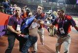 Suimtas vyras, kuris 100 m bėgimo metu metė butelį į finalo dalyvius
