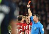 """Iš pralaimėjimų liūno išbridę """"Manchester City"""" įveikė raudoną kortelę išvydusius """"Southampton"""""""