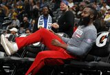 """Permainoms besiruošianti """"Rockets"""" pasiuntė """"Nuggets"""" į ketvirtą nesėkmę iš eilės"""
