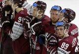 Garbingai kovoję latviai tik minimaliu skirtumu pralaimėjo pasaulio čempionams
