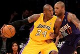 """K.Bryantas buvo rezultatyviausias, tačiau to """"Lakers"""" pergalei neužteko"""