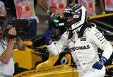 """Netikėta: V.Bottas pirmą kartą karjeroje laimėjo """"Formulės 1"""" kvalifikaciją"""