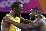 U.Boltas užstojo nušvilptą pasaulio čempioną, J.Gatlinas atsiribojo nuo žiūrovų