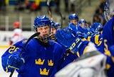 Švedijos ledo ritulininkai dramatiškame finale pirmą kartą istorijoje tapo pasaulio jaunių čempionais