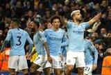 """""""Hat-tricką"""" prieš """"Arsenal"""" pelnęs S.Aguero pripažino: """"Galbūt tai buvo žaidimas ranka"""""""