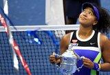 """Po pirmojo seto apie gėdingą pralaimėjimą galvojusi N.Osaka antrą kartą karjeroje triumfavo """"US Open"""" turnyre"""