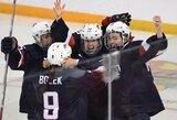 Pasaulio moterų ledo ritulio čempionate trečią kartą iš eilės triumfavo amerikietės
