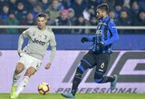 """Italijos taurės čempionai nukarūnuoti: 3 įvarčius praleidę """"Juventus"""" futbolininkai krito ketvirtfinalyje"""
