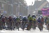 """Visi trys lietuviai nebaigė vienadienių """"Gent-Wevelgem"""" dviračių lenktynių Belgijoje"""