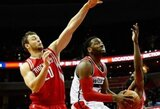 """D.Motiejūnas atidarė taškų sąskaitą, """"Rockets"""" šventė pergalę"""