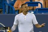 N.Kyrgiosas gavo įspūdingo dydžio baudą, R.Federeris atsisakė komentuoti situaciją