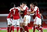 """Londono derbyje – """"Arsenal"""" pergalė prieš """"Chelsea"""" ir nutrauktas beveik 2mėnesius trukęs pergalių badas Anglijoje"""