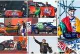 Dakaro starto podiumas: firminis V.Žalos šuolis, naujas šturmano gestas ir režisierių klaida
