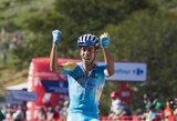"""F.Aru laimėjo vienuoliktąjį """"Vuelta a Espana"""" lenktynių etapą, N.Quintana patyrė traumą"""