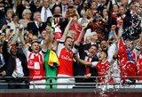 """""""Arsenal"""" klubas įveikė Anglijos čempionus ir iškovojo FA taurę"""