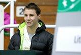 ATP geriausių tenisininkų reitinge lietuvių pozicijos keitėsi nežymiai