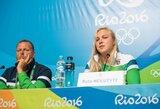 R.Meilutytė užsiminė apie asmenines problemas, atskleidė ateities planus ir įvertino savo trenerius
