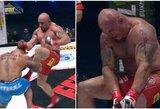 M.Pudzianowskio brolis po kovos su buvusiu ledo ritulininku išvežtas į ligoninę, ilgametis UFC kovotojas nokautuotas per 37 sekundes