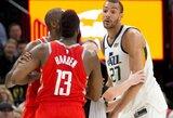 """Jutoje – pratęsta """"Rockets"""" serija, J.Hardeno konfliktai ir dėl jo mamos klaidą padaręs Ch.Paulas"""