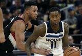 """N.Robinsoną nokautavusiam J.Paului iššūkį metė """"Timberwolves"""" žaidėjas"""