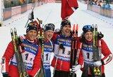 Lietuvos vyrų biatlono rinktinė pasaulio taurėje aplenkė penkias komandas