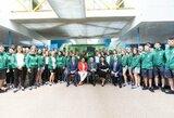 Jaunieji sportininkai išlydėti į Europos jaunimo olimpinį festivalį