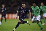 """PSG, """"Marseille"""" ir """"Lyon"""" pasiekė Prancūzijos lygos taurės ketvirtfinalį, o """"Monaco"""" buvo sutriuškintas"""