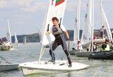 """Pirmą kartą Kauno mariose vykusiame Europos """"Laser"""" jachtų klasės taurės varžybų etape geriausiai sekėsi lietuviams"""