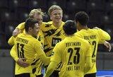 """E.Haalandas pelnė 4 įvarčius, o """"Borussia"""" iškovojo užtikrintą pergalę"""