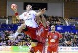 Lenkijos vyrų rankinio rinktinė Europos čempionate išplėšė pergalę prieš baltarusius