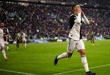 """Italijoje – C.Ronaldo pelnytas """"hat-trickas"""" ir triuškinama """"Juventus"""" pergalė"""