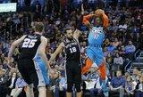 """""""Thunder"""" atsarginiai padėjo revanšuotis prieš """"Spurs"""""""