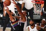 NBA sužavėjo K.Leonardo blokas viduriniu pirštu