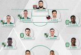 A lygos pirmojo turo rinktinėje dominuoja Vilniaus ir Kauno klubų žaidėjai