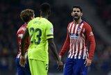 """Ispanijos grandų akistata: D.Costa nutraukė įvarčių badą, bet pergalę iš """"Atletico"""" atėmė O.Dembele"""