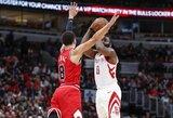"""Po traumos grįžęs J.Hardenas nulėmė pergalingą """"Rockets"""" spurtą"""