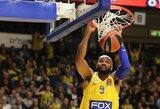 """Didžiulę persvarą iššvaistęs """"Maccabi"""" nugalėjo """"Barcelona"""" krepšininkus"""