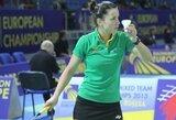 Europos čempionate Lietuvos badmintonininkės patiesė Baltarusijos rinktinę