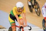 O.Baleišytė Europos dviračių treko čempionato daugiakovėje – 14-a